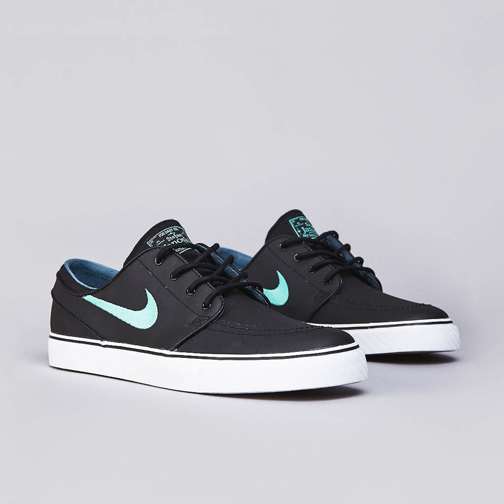 nike sb stefan janoski l black crystal mint night factor flatspot. Black Bedroom Furniture Sets. Home Design Ideas