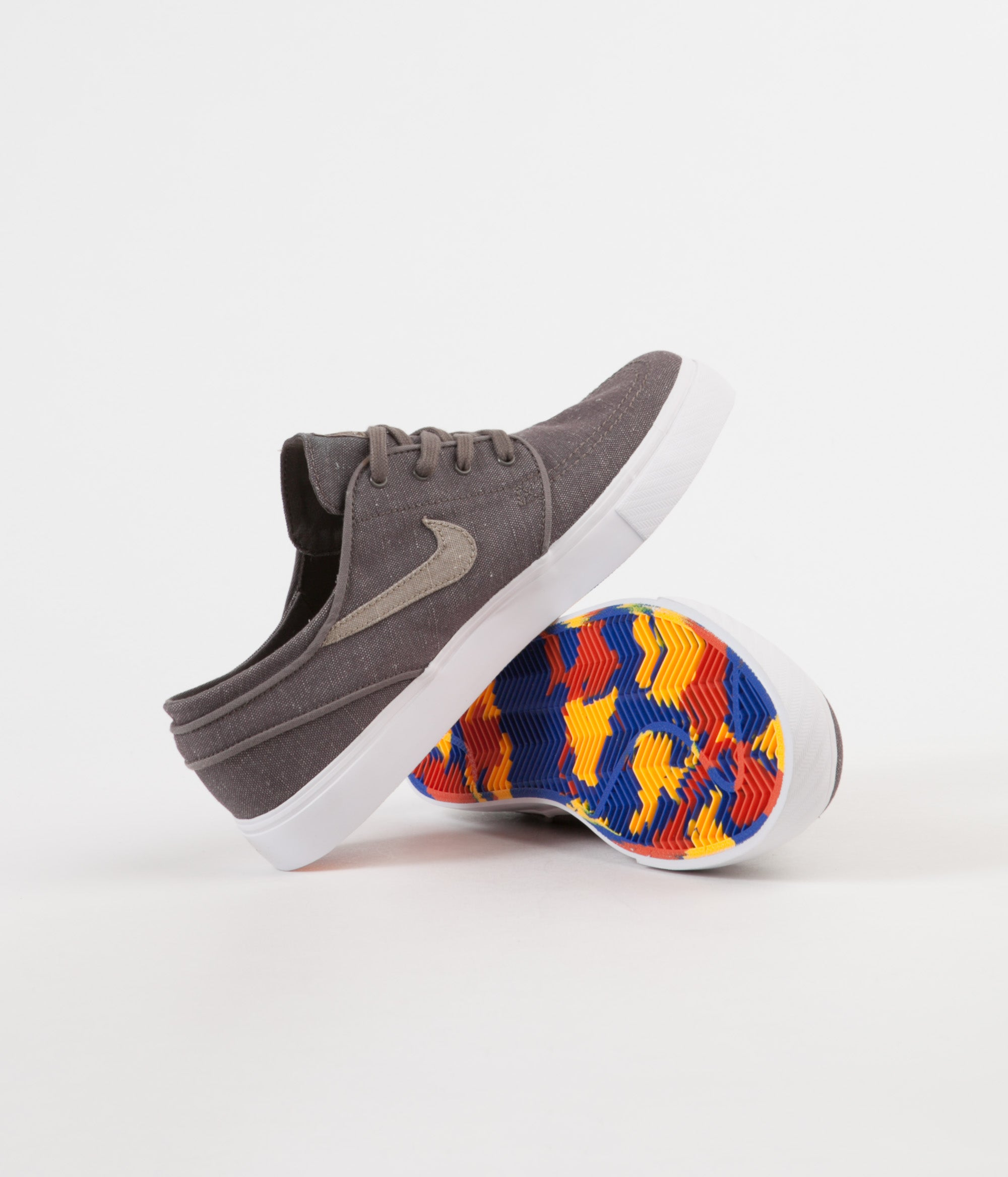 Nike SB Stefan Janoski Canvas Deconstructed Shoes - Ridgerock / Khaki - Vintage Coral
