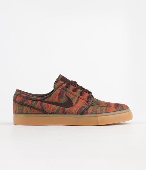 Nike SB Stefan Janoski Canvas Premium Shoes - Multi Colour / Velvet Brown - Gum Yellow