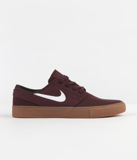 Nike SB Stefan Janoski Canvas Remastered Shoes - Mahogany / White - Gum Light Brown