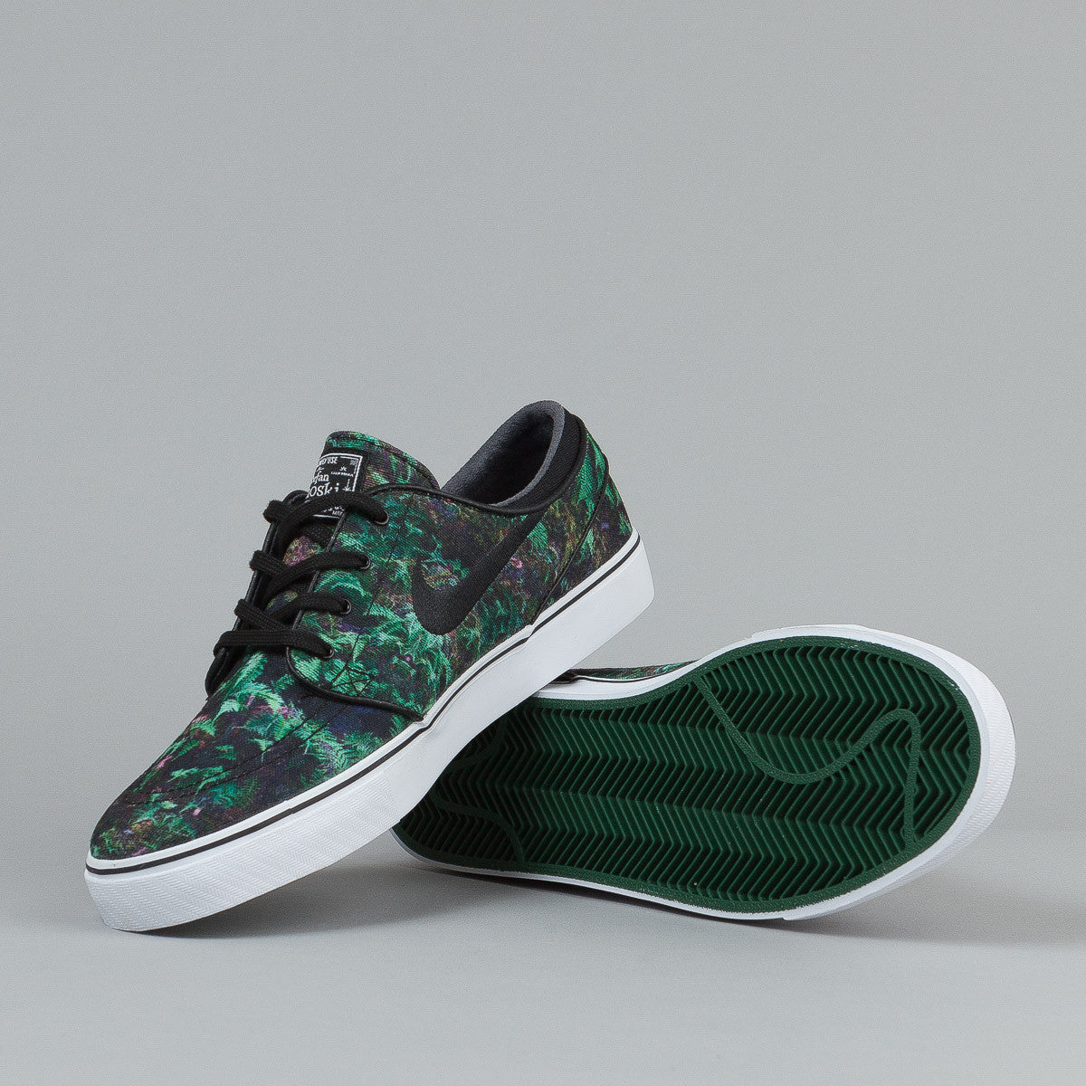 Nike SB Stefan Janoski CNVS PRM Shoes - Gorge Green / Black / White