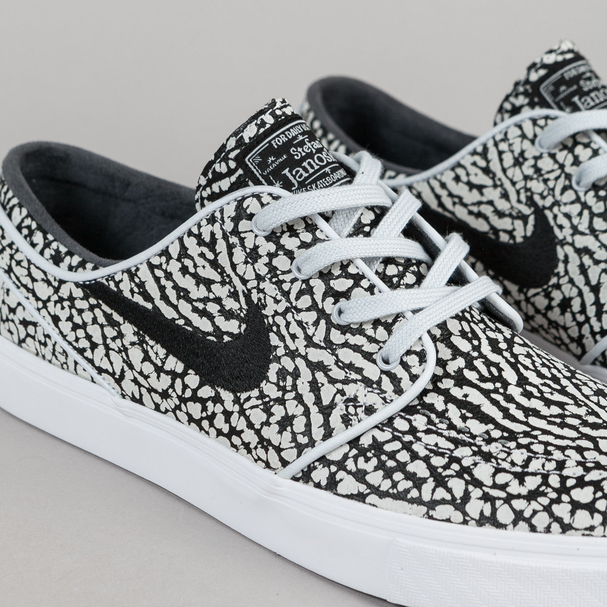 Nike SB Stefan Janoski Elite 'Road Pack' Shoes - Pure Platinum / Black - White