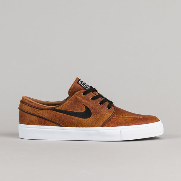 Nike SB Stefan Janoski Elite Shoes - Ale Brown - Black - White - Dark Field Brown