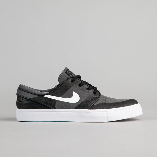 Nike SB Stefan Janoski Elite Shoes - Dark Grey / White - Black