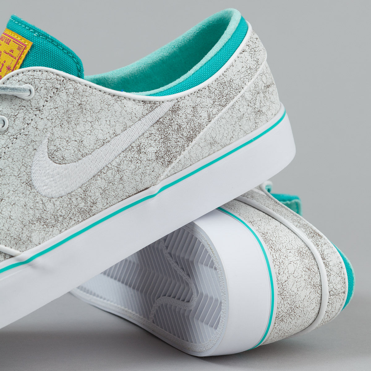 Nike SB Stefan Janoski Elite Shoes 'Flamingo' - White / White - Black - Hyper Jade