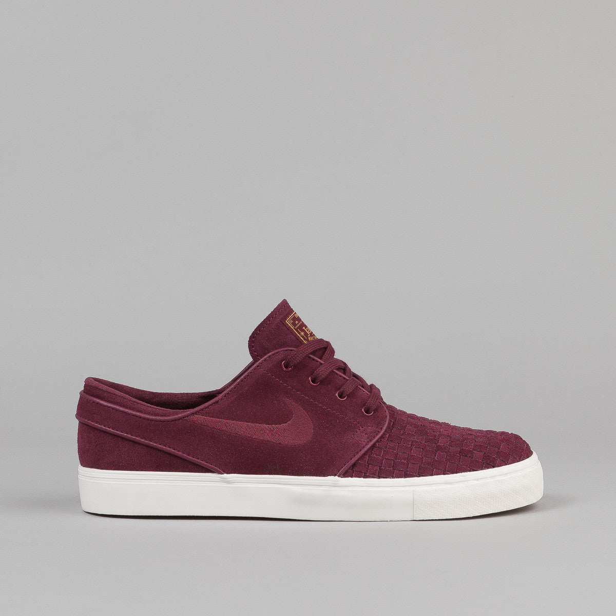 Nike SB Stefan Janoski Shoes - Night Chestnut Red / Night Chestnut Red - Ivory - Metallic Gold