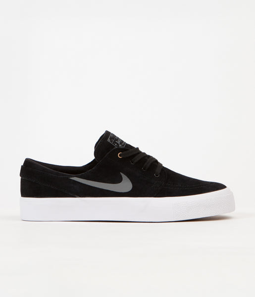 Nike SB Stefan Janoski HT Shoes - Black / Dark Grey - Metallic Gold - White
