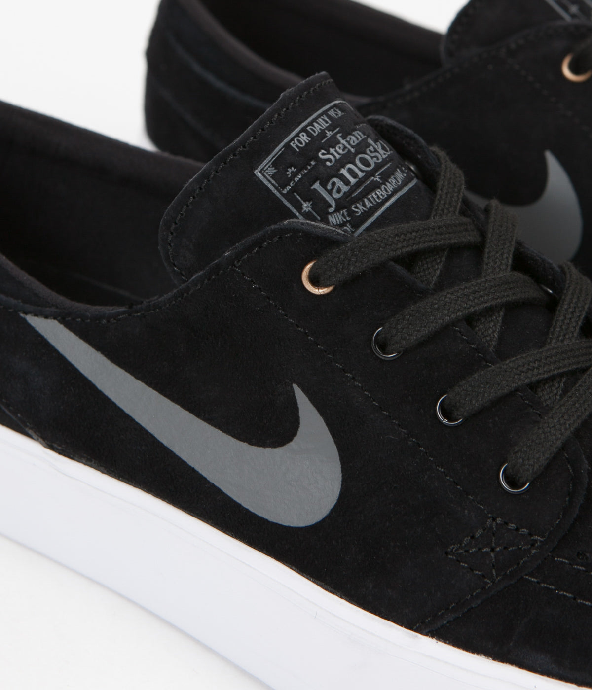 ... Nike SB Stefan Janoski HT Shoes - Black   Dark Grey - Metallic Gold -  White ... 9c830f7c446d