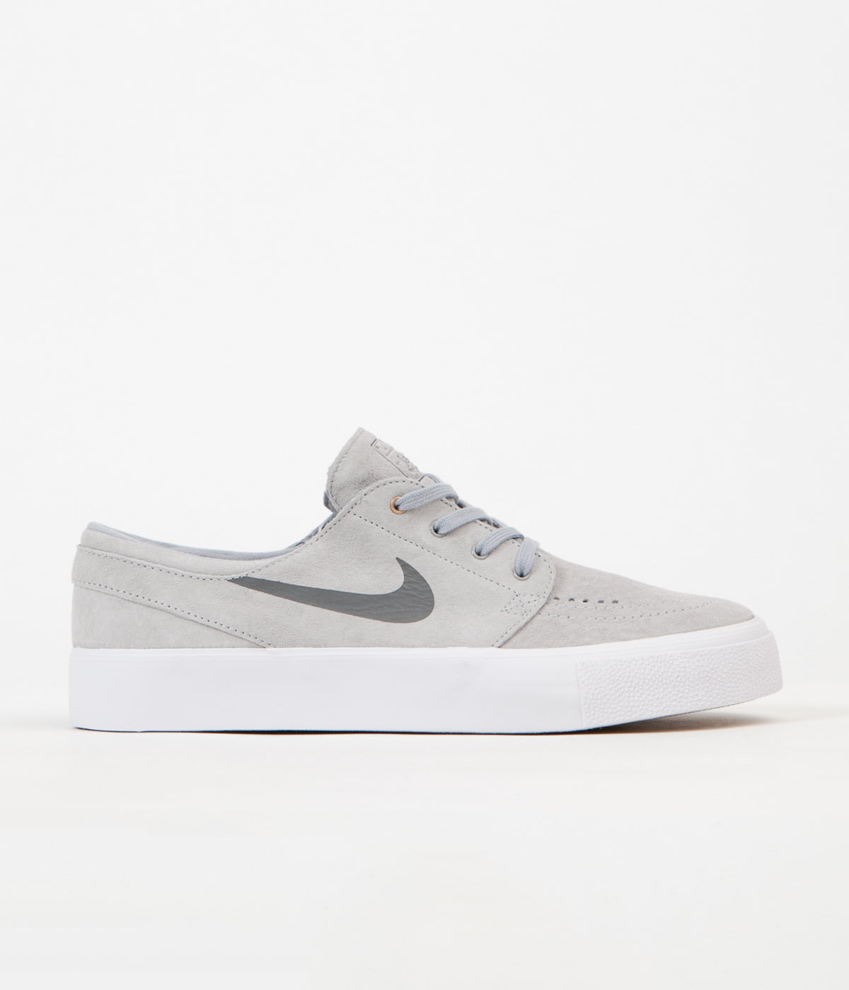 Nike SB Stefan Janoski HT Shoes - Wolf Grey   Dark Grey - Metallic Gold -  White defbd1413