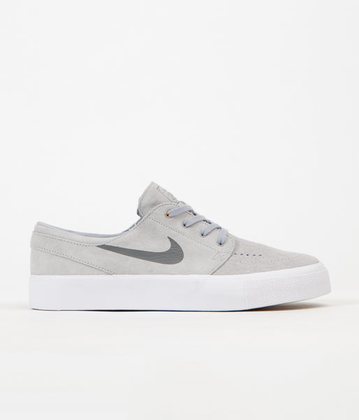 Nike SB Stefan Janoski HT Shoes - Wolf Grey / Dark Grey - Metallic Gold - White