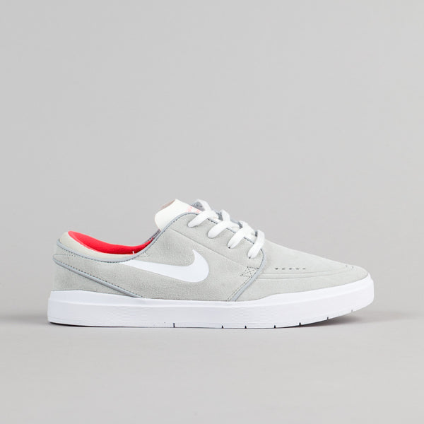 Nike SB Stefan Janoski Hyperfeel Shoes - Wolf Grey / White - Black - Bright Crimson