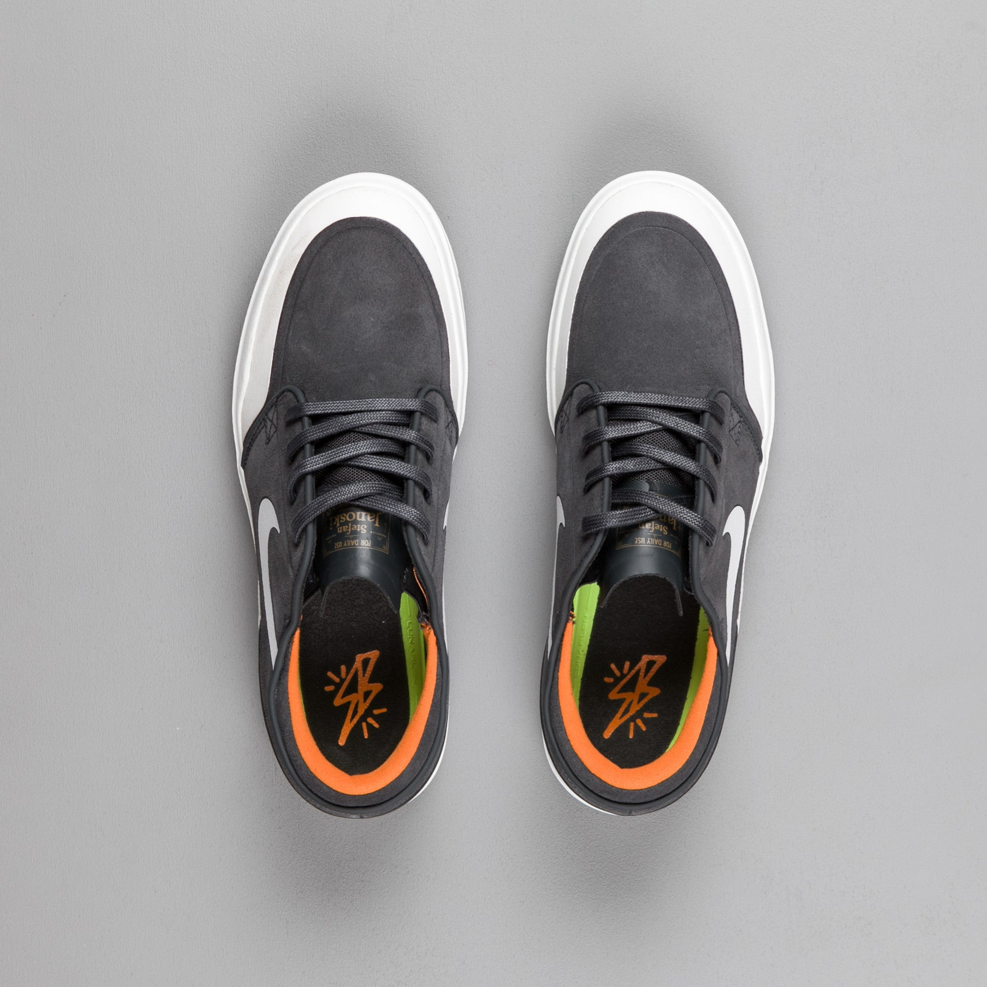 Nike SB Stefan Janoski Hyperfeel XT Shoes - Anthracite / White - Summit White - Clay Orange