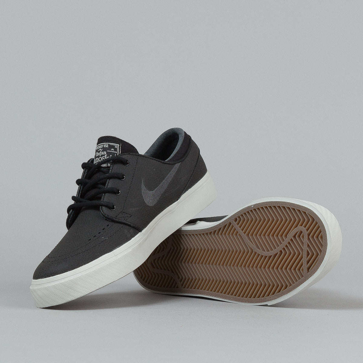 Nike SB Stefan Janoski L Black / Anthracite - Light Gum - Gum Dark Brown