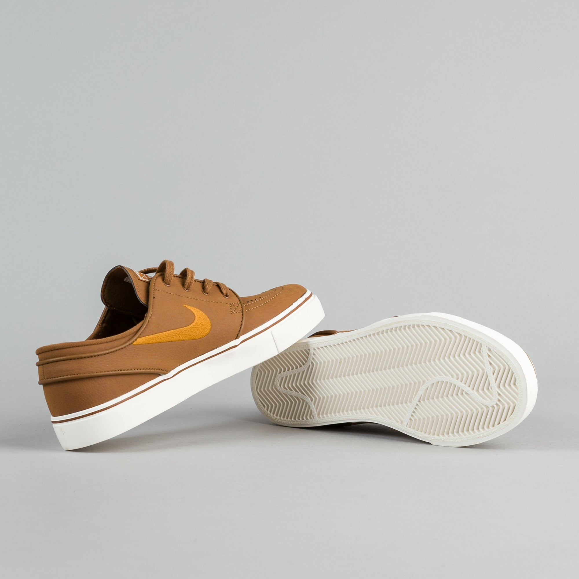 Nike SB Stefan Janoski Leather Shoes - Ale Brown / Desert Ochre - Sail
