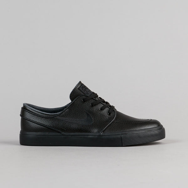 Nike SB Stefan Janoski Leather Shoes - Black / Black - Black - Anthracite