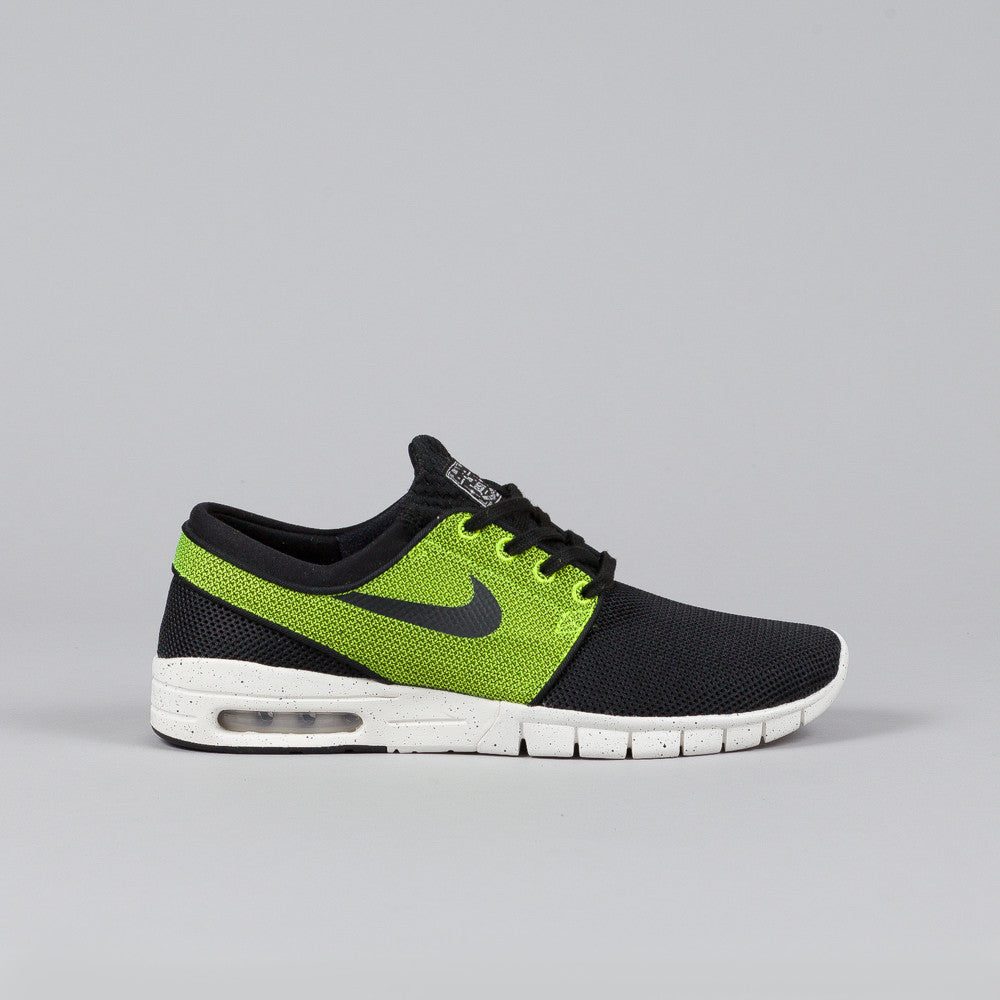 nike sb stefan janoski max black black volt ivory flatspot. Black Bedroom Furniture Sets. Home Design Ideas