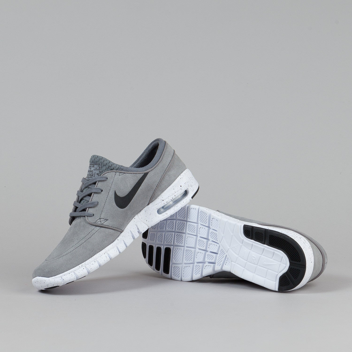 Nike SB Stefan Janoski Max L Cool Grey / Black - White