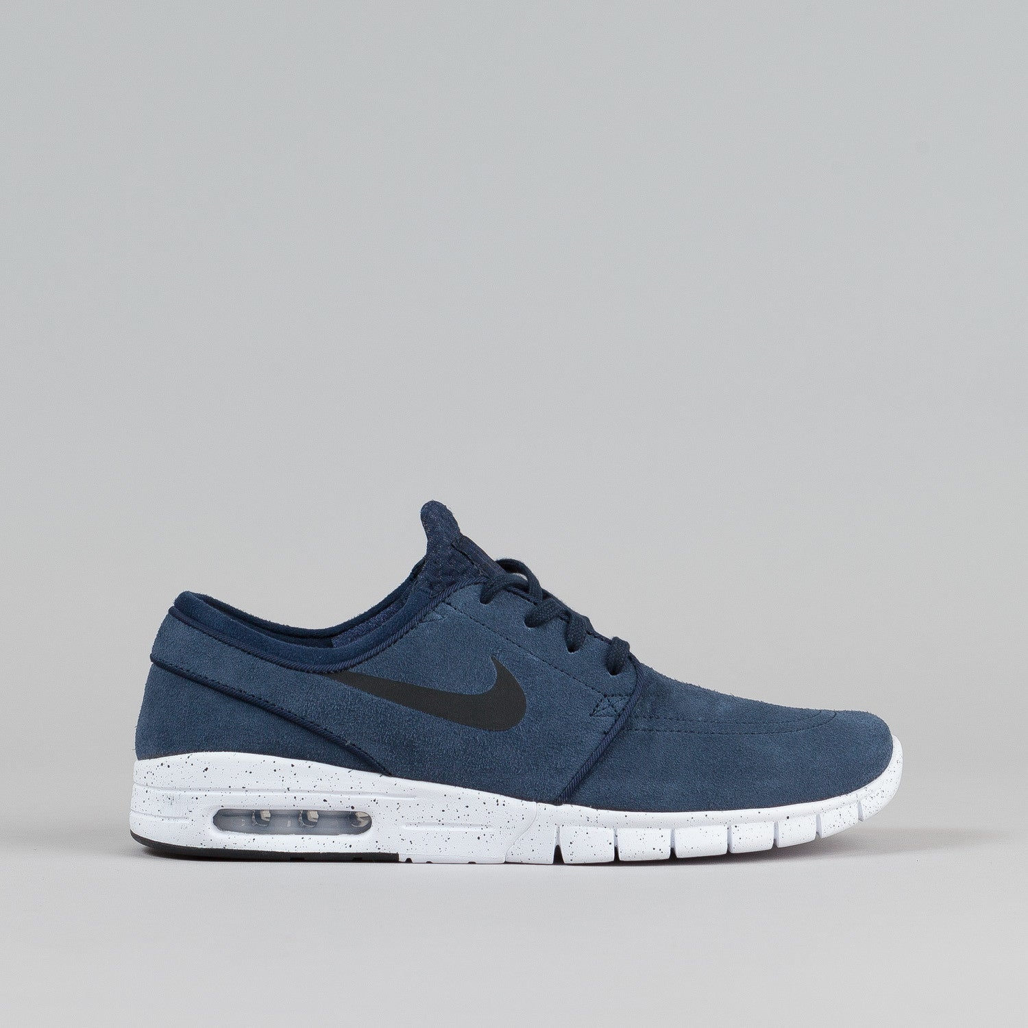 nike sb stefan janoski max l obsidian black white flatspot. Black Bedroom Furniture Sets. Home Design Ideas