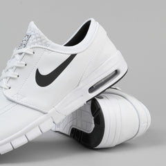Nike SB Stefan Janoski Max Leather Shoes - White / Black