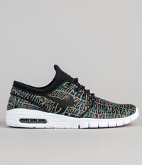 Nike SB Stefan Janoski Max Premium 'Tripper' Shoes - Black / Black - White - Multicolour
