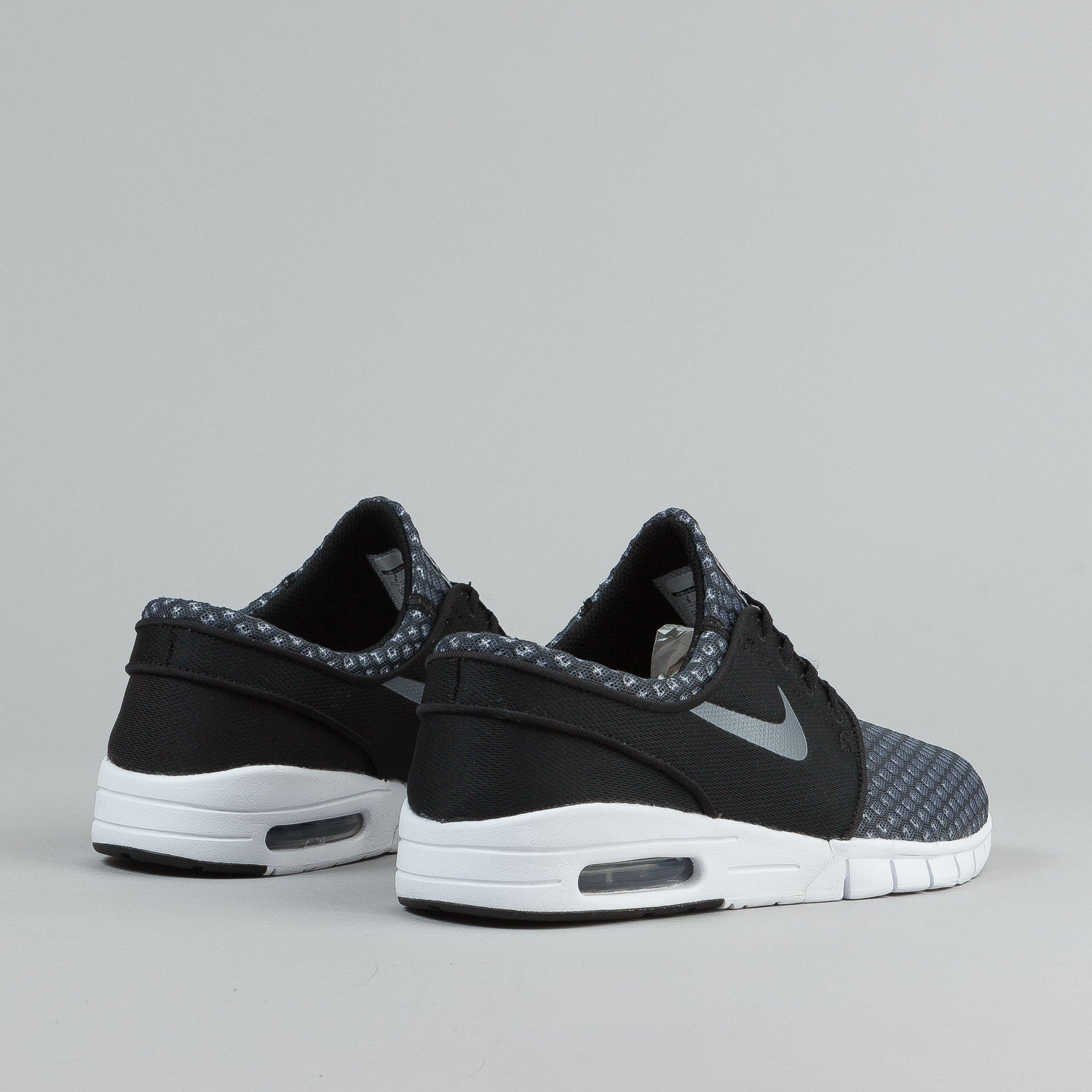 Nike SB Stefan Janoski Max Shoes  - Black / Metallic Cool Grey / White
