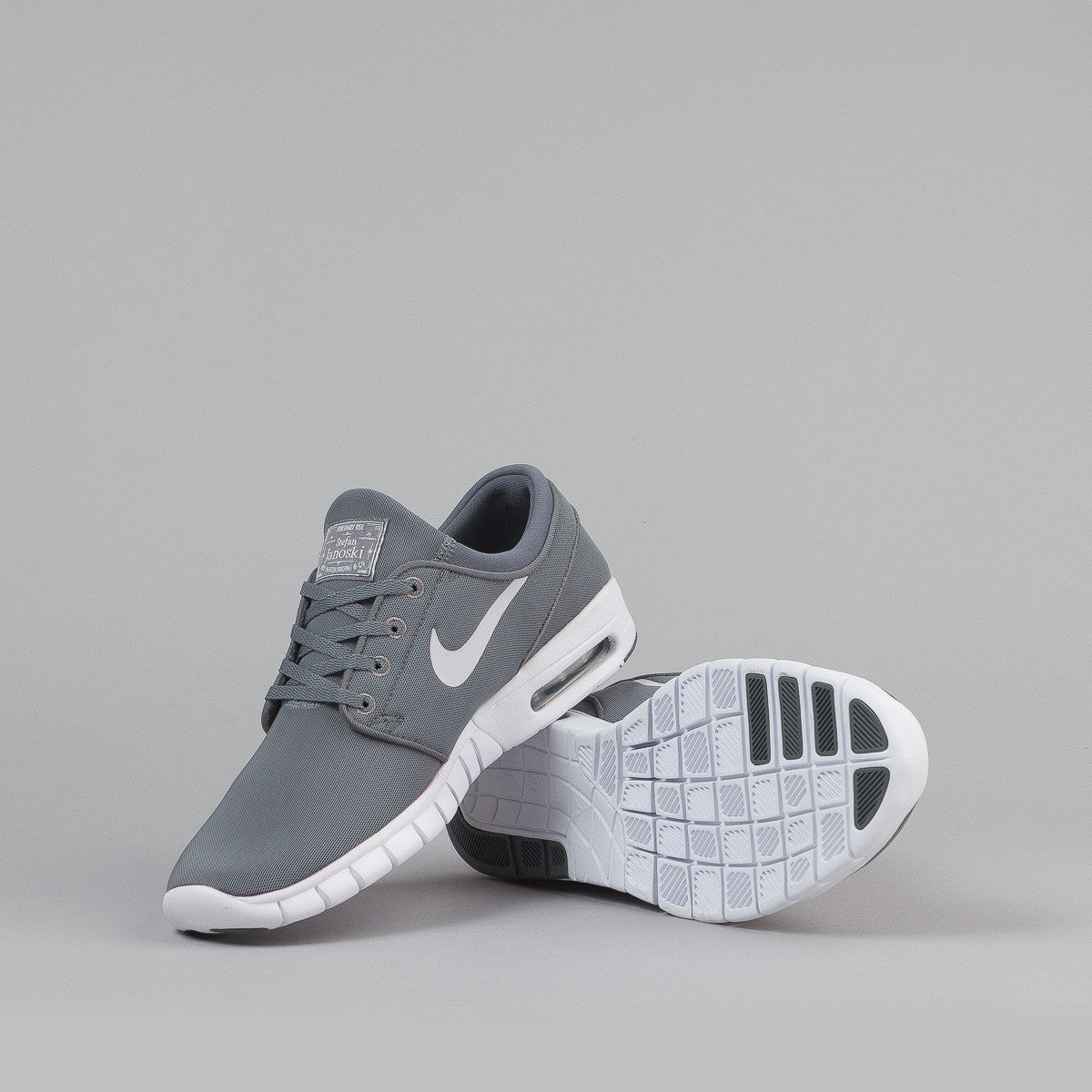 nike sb stefan janoski max shoes cool grey white white dark gr flatspot. Black Bedroom Furniture Sets. Home Design Ideas