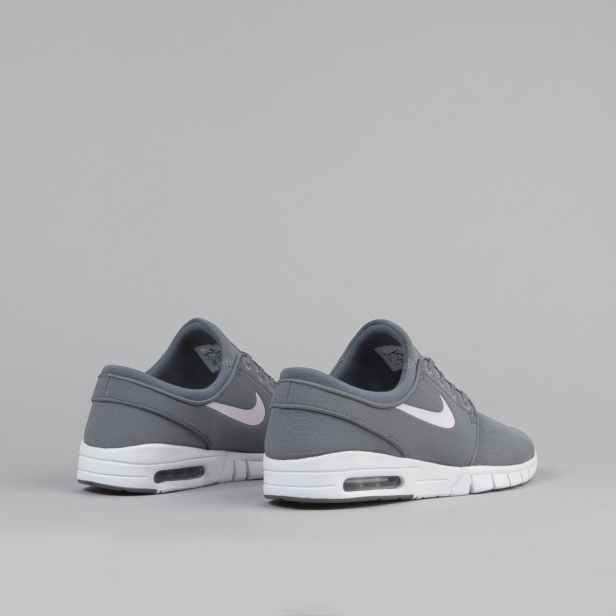 Nike SB Stefan Janoski Max Shoes - Cool Grey / White - White - Dark Grey