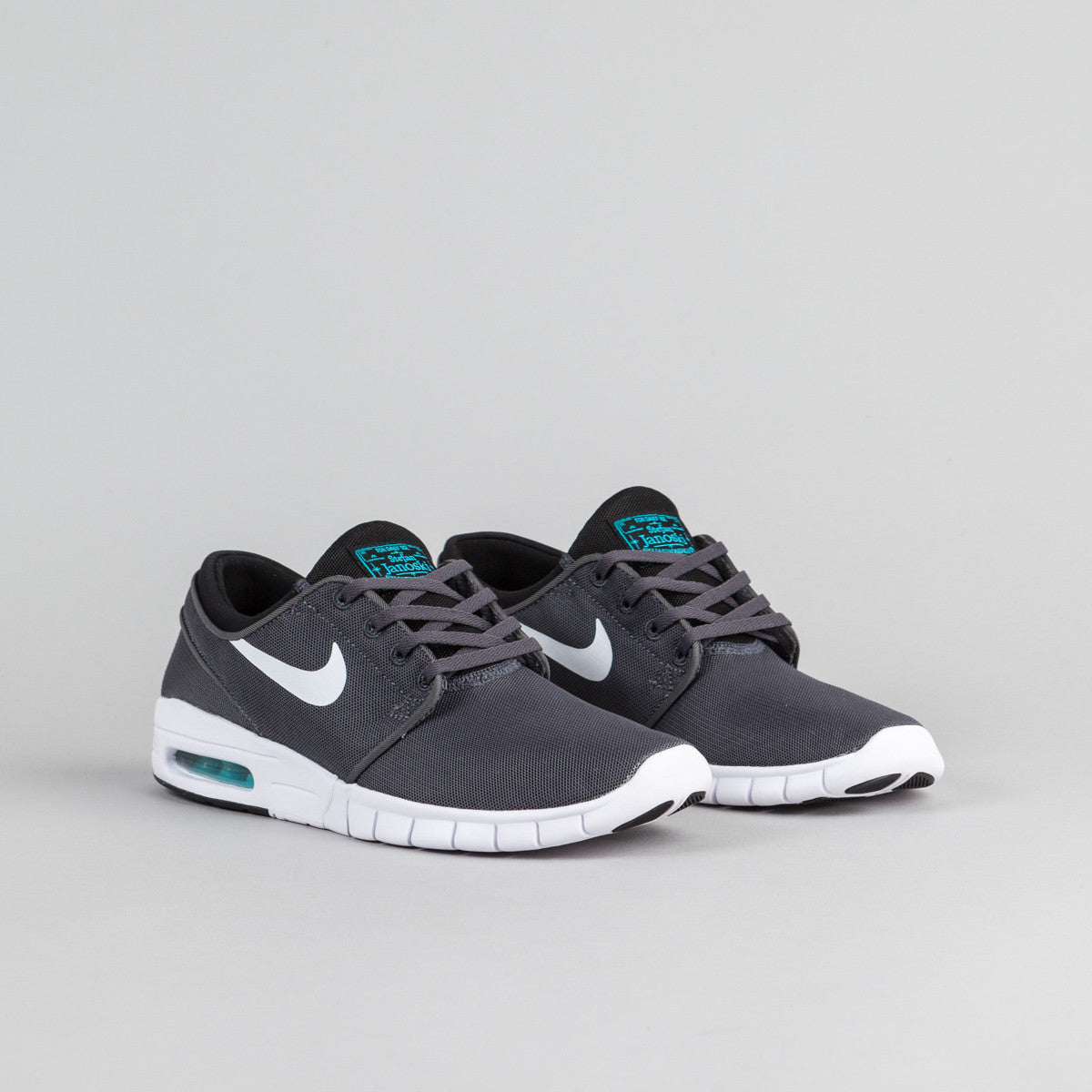 Nike SB Stefan Janoski Max Shoes - Dark Grey / White - Black - Gamma Blue