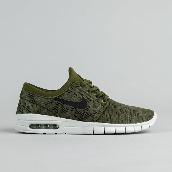 Nike SB Stefan Janoski Max Shoes - Legion Green / Black - Pure Platinum