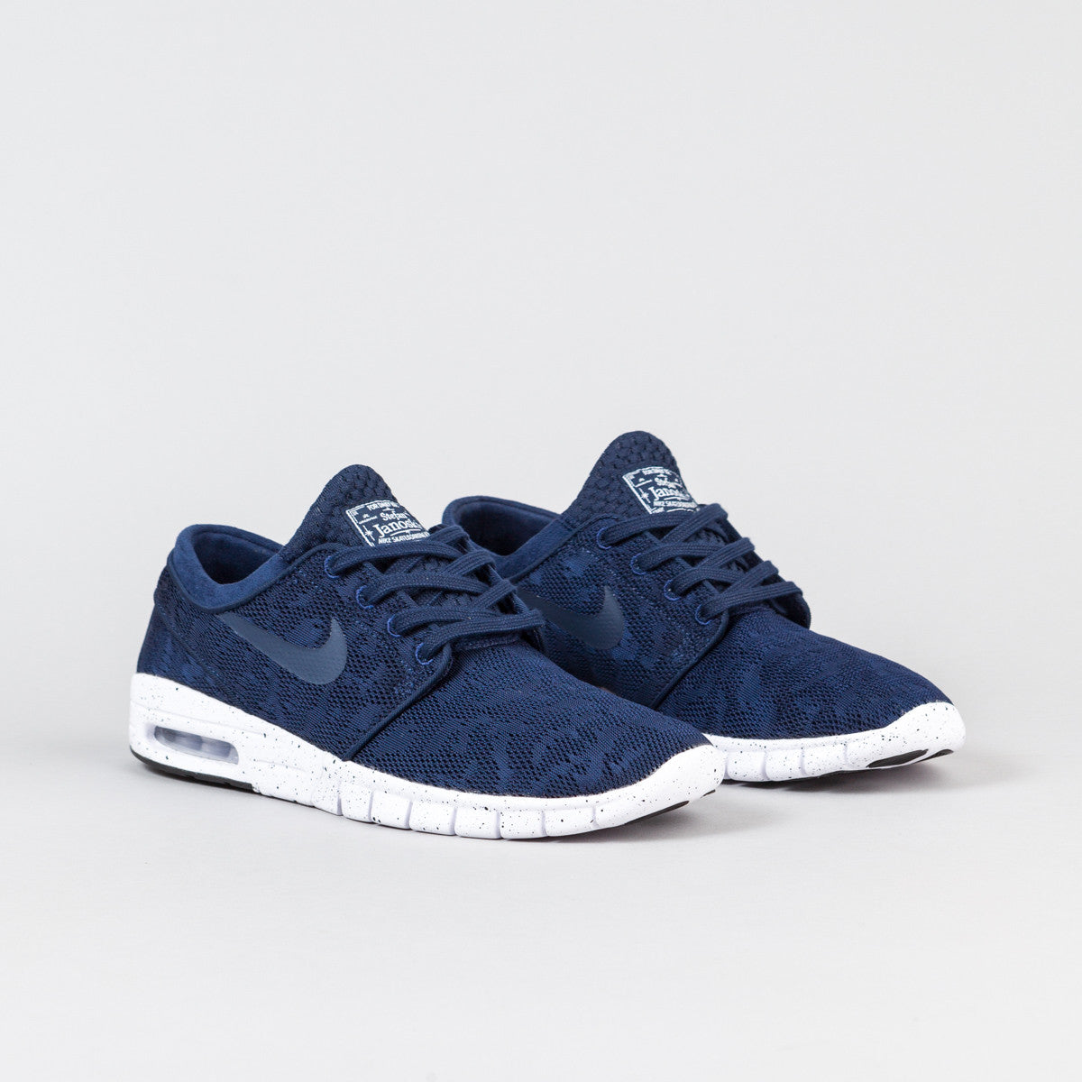 nike sb stefan janoski max midnight navy white flatspot. Black Bedroom Furniture Sets. Home Design Ideas