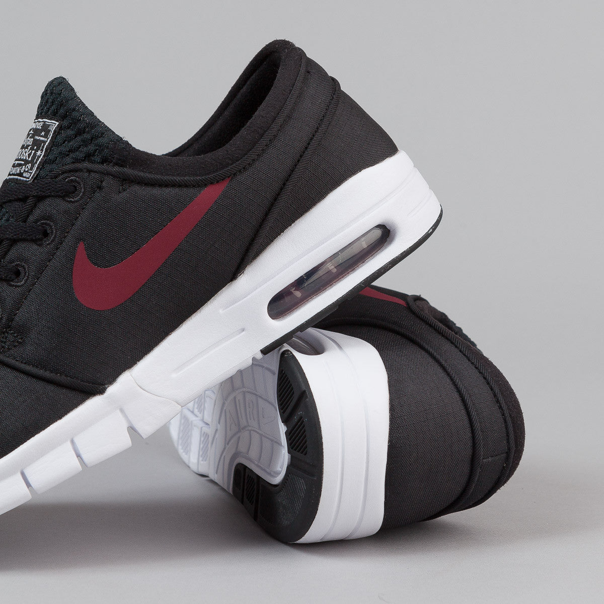 Nike SB Stefan Janoski Max Shoes - Black / Team Red - White
