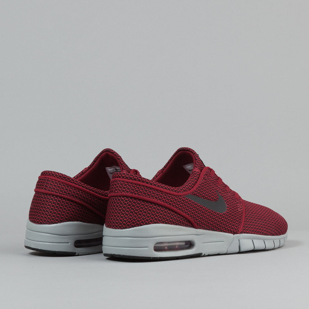 Nike SB Stefan Janoski Max Shoes - Team Red  / Black - Wolf Grey