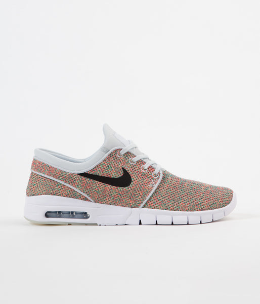 Nike SB Stefan Janoski Max Shoes - Volt / Black - Photo Blue - Racer Pink