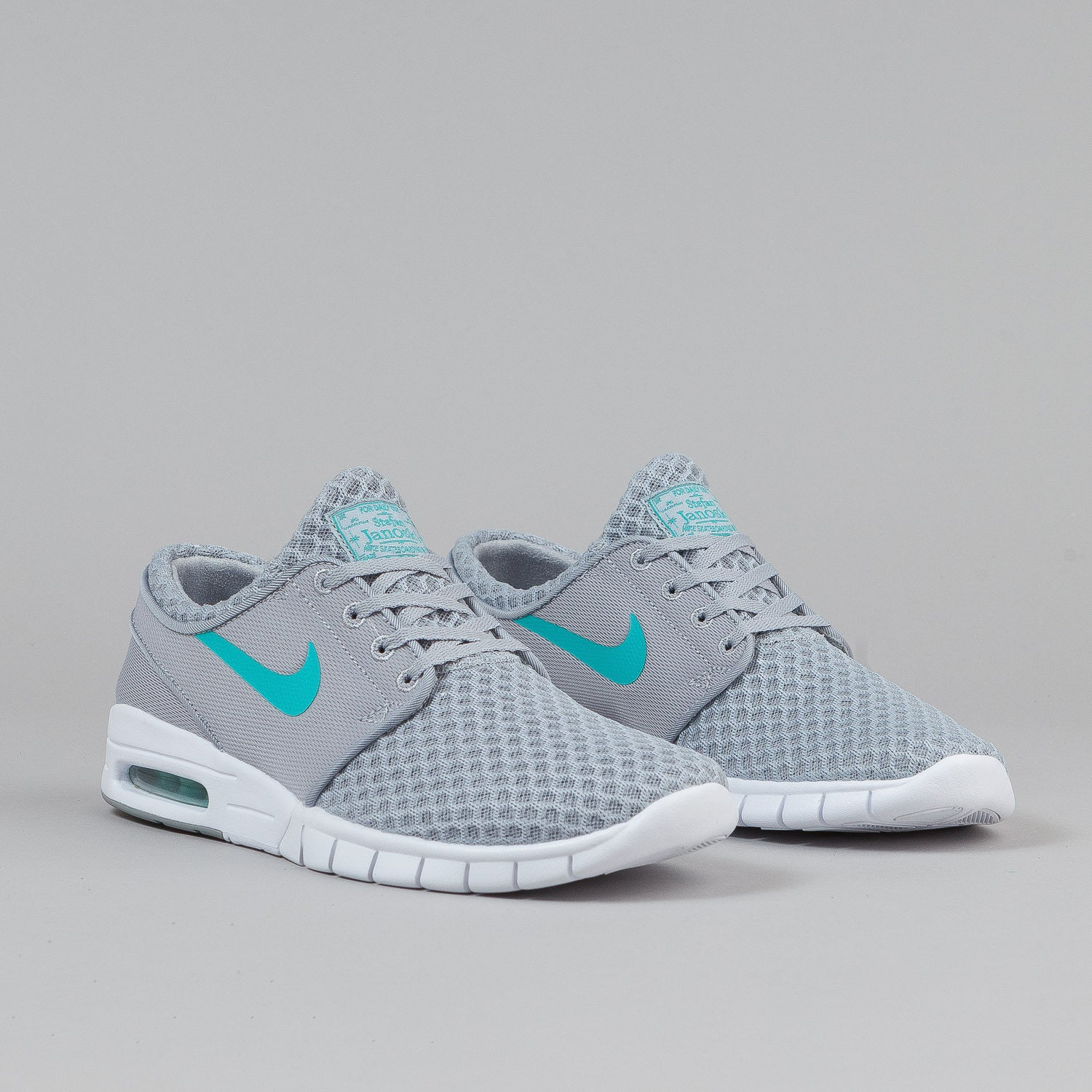 nike sb stefan janoski max shoes wolf grey light retro white flatspot. Black Bedroom Furniture Sets. Home Design Ideas