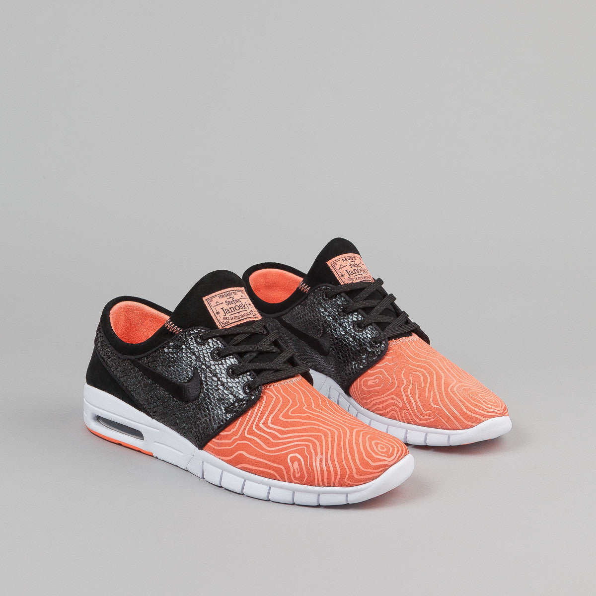 Nike SB Stefan Janoski Max Suede Shoes - Atomic Pink / Black / White