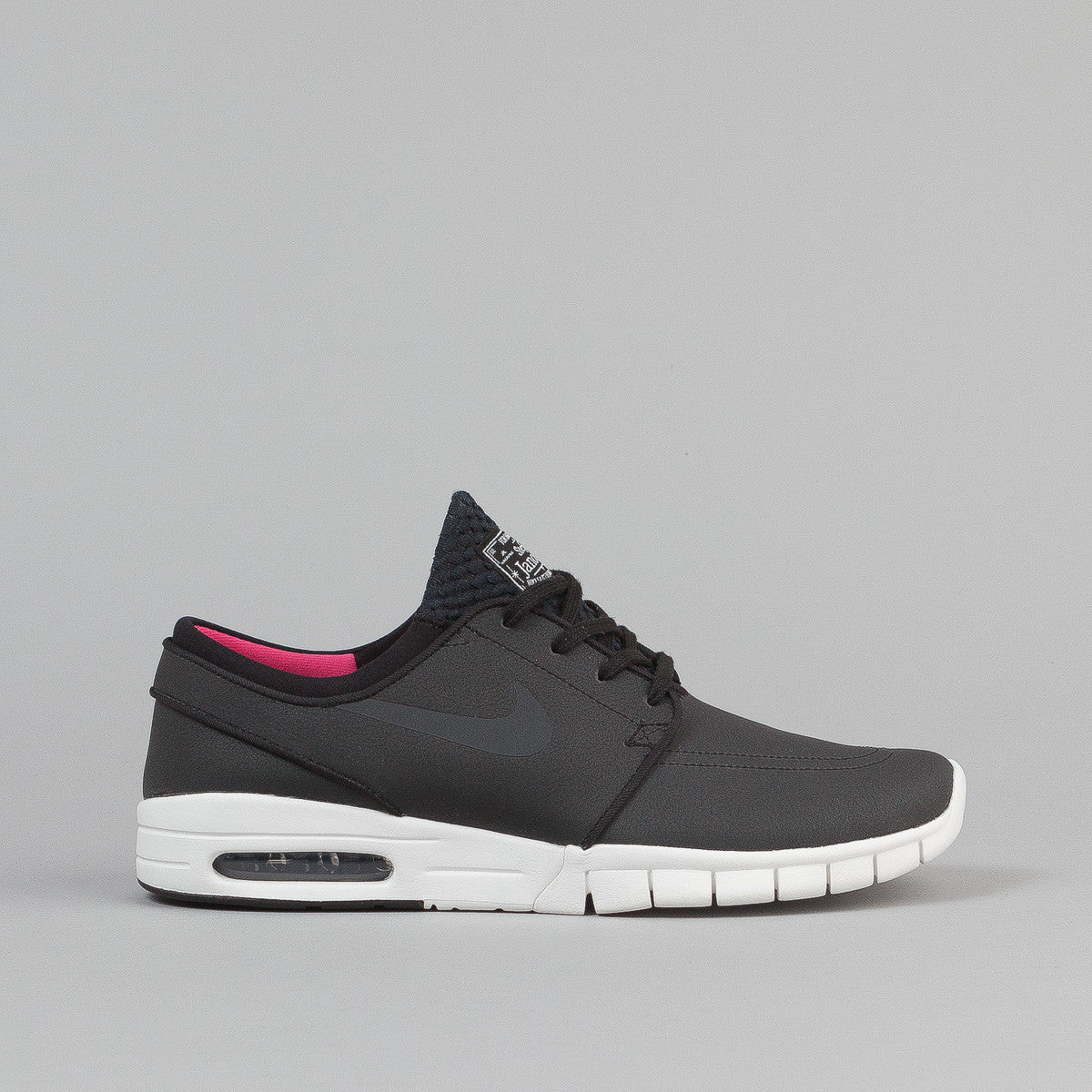 Nike SB Stefan Janoski Max Suede Shoes - Black/Anthracite-Summit White-Hyper Pink