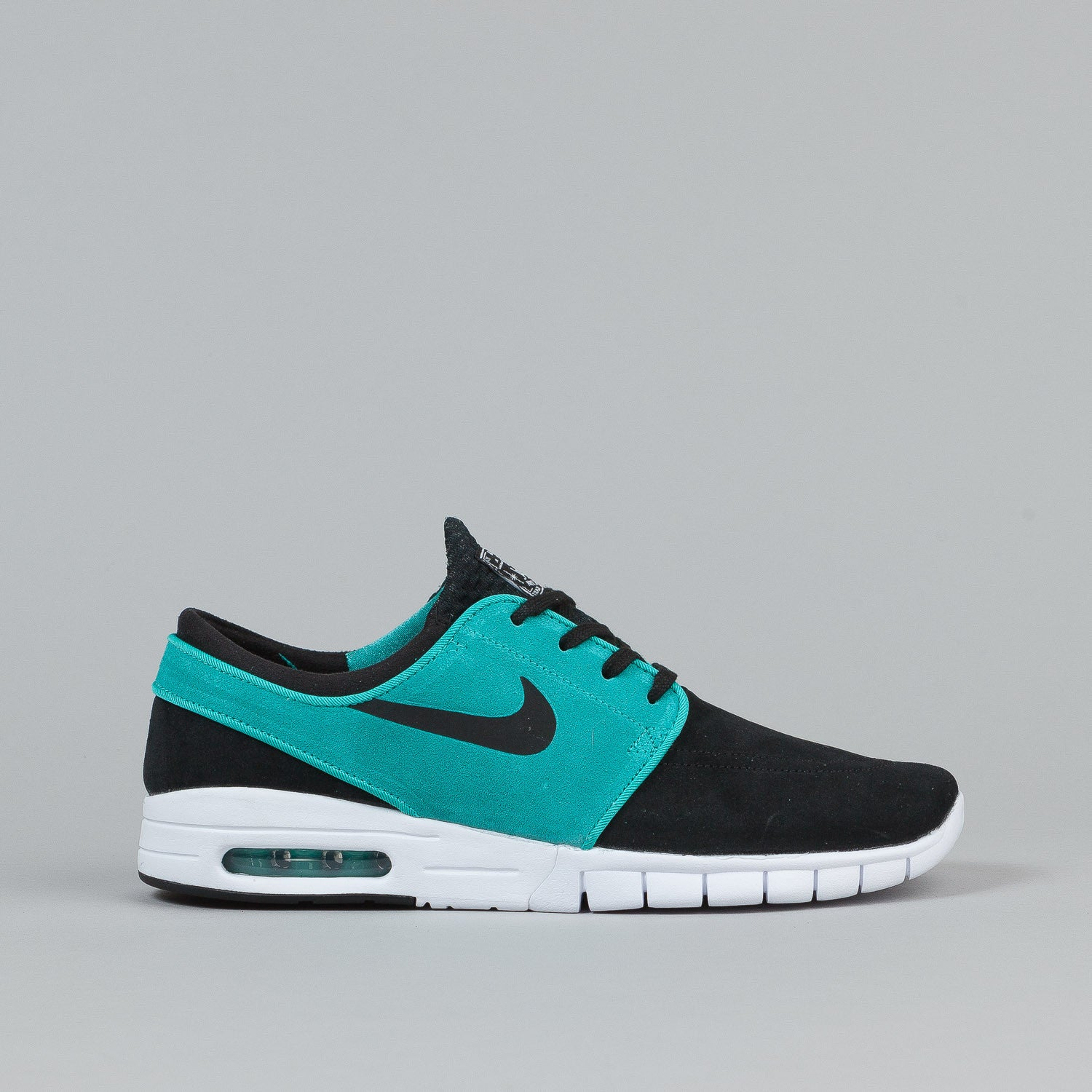 nike sb stefan janoski max suede shoes black lt retro white flatspot. Black Bedroom Furniture Sets. Home Design Ideas