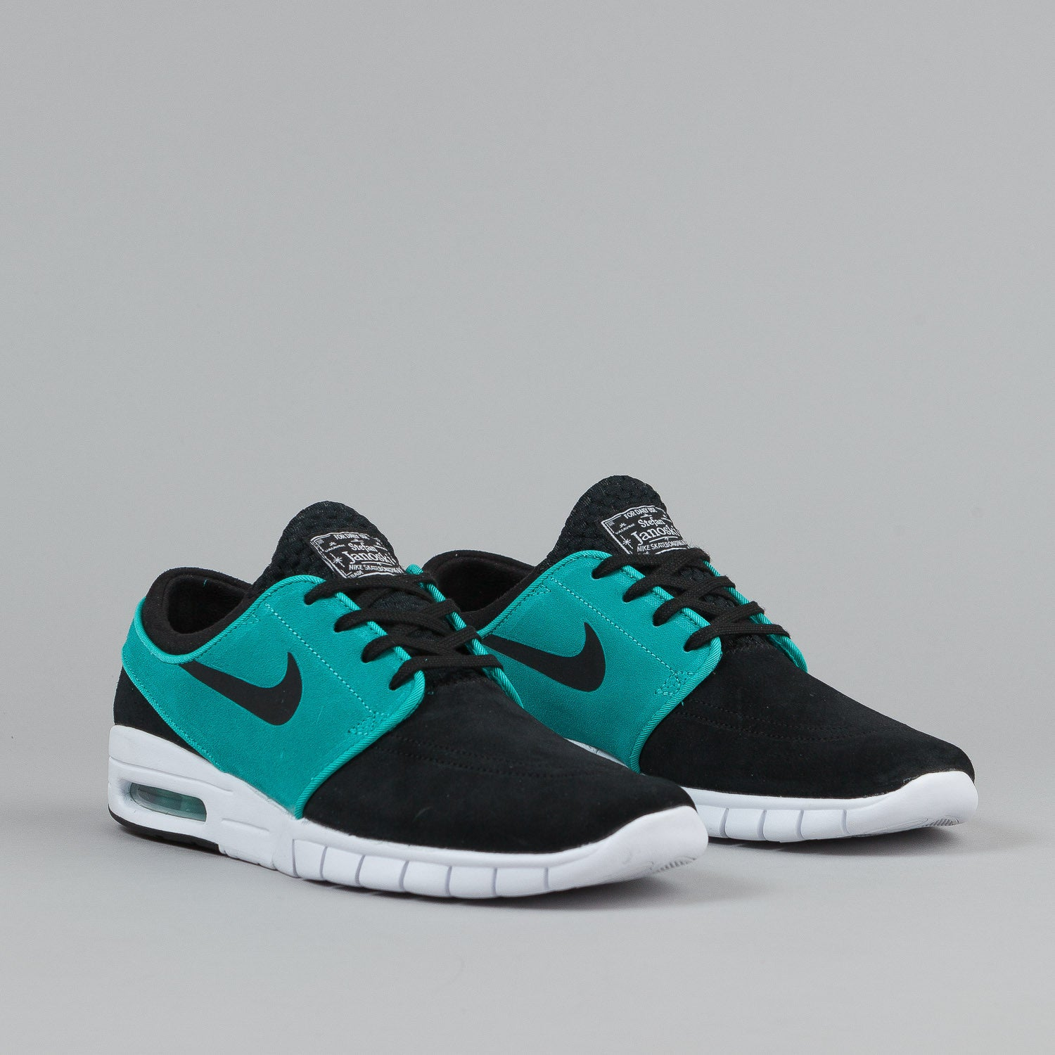 nike sb stefan janoski max suede shoes black lt retro. Black Bedroom Furniture Sets. Home Design Ideas