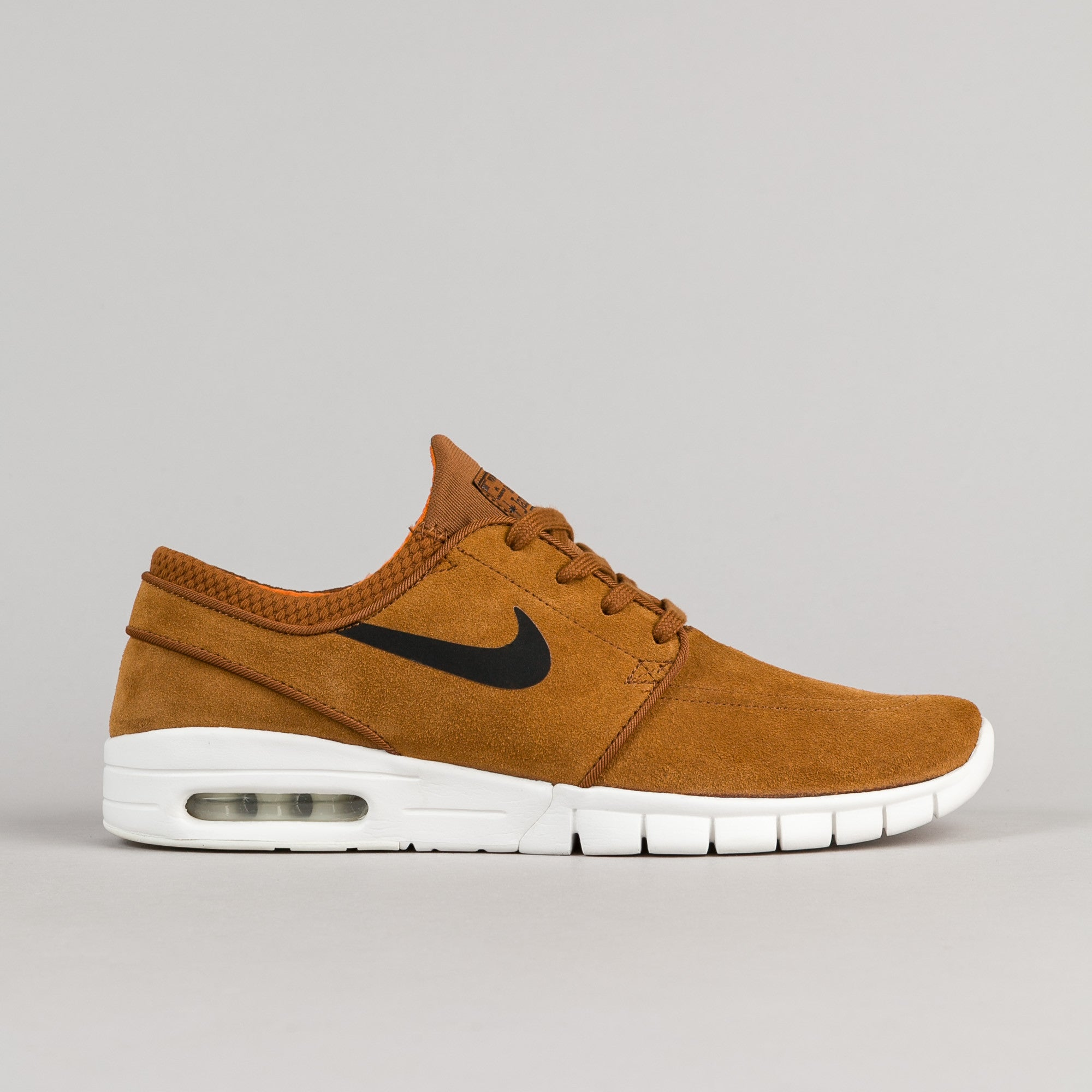 competitive price c17df 8e3ab Nike SB Stefan Janoski Max Suede Shoes - Hazelnut   Black - Ivory - Clay  Orange
