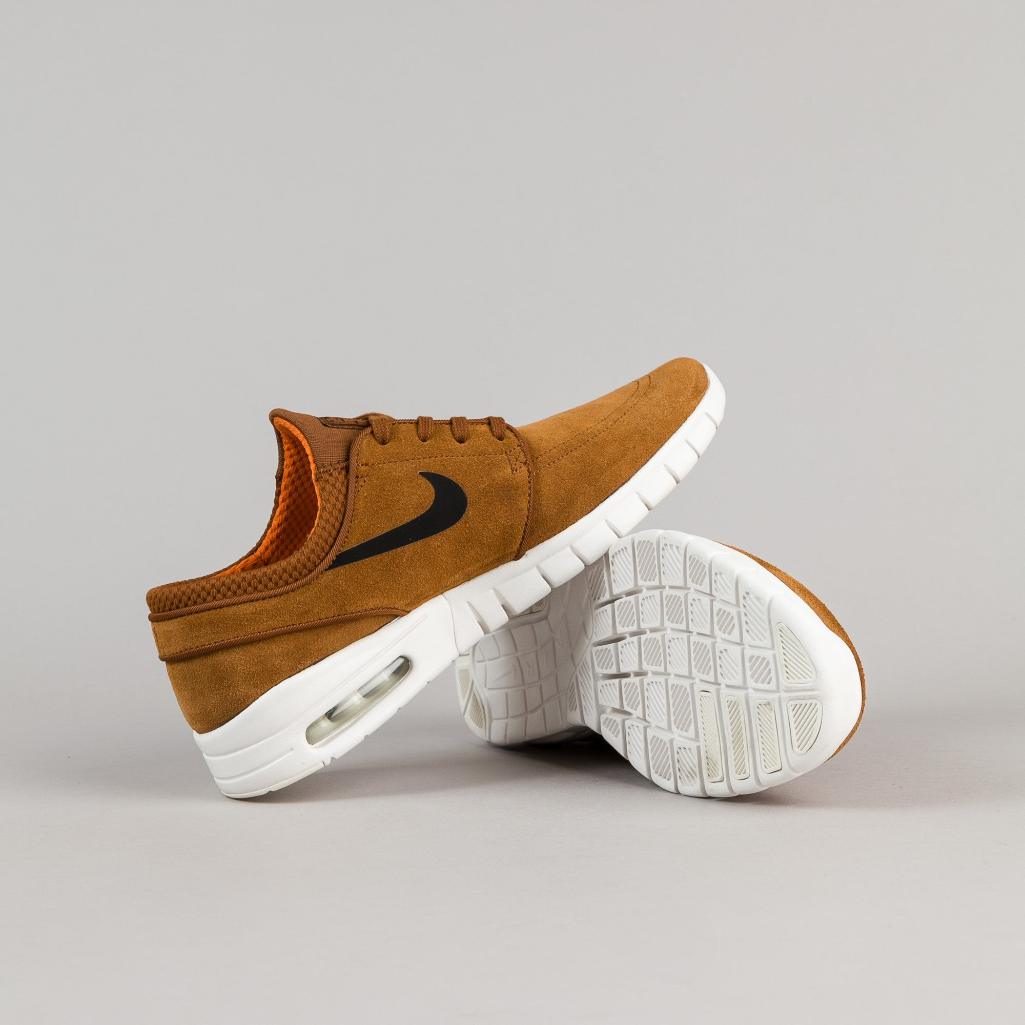 quality design 78517 fc90a ... Nike SB Stefan Janoski Max Suede Shoes - Hazelnut   Black - Ivory -  Clay Orange ...