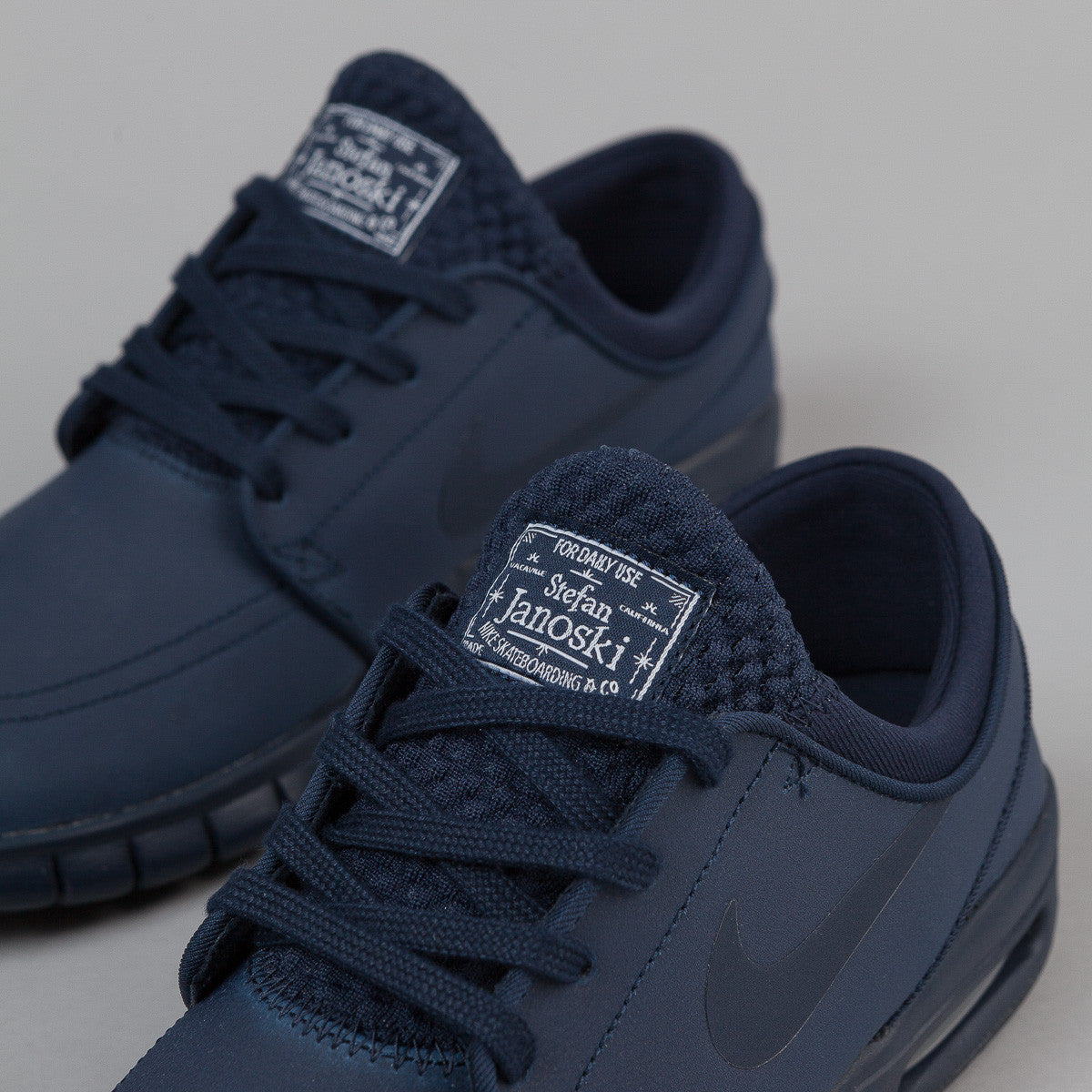 Nike Sb Stefan Janoski Max Leather Shoes Obsidian