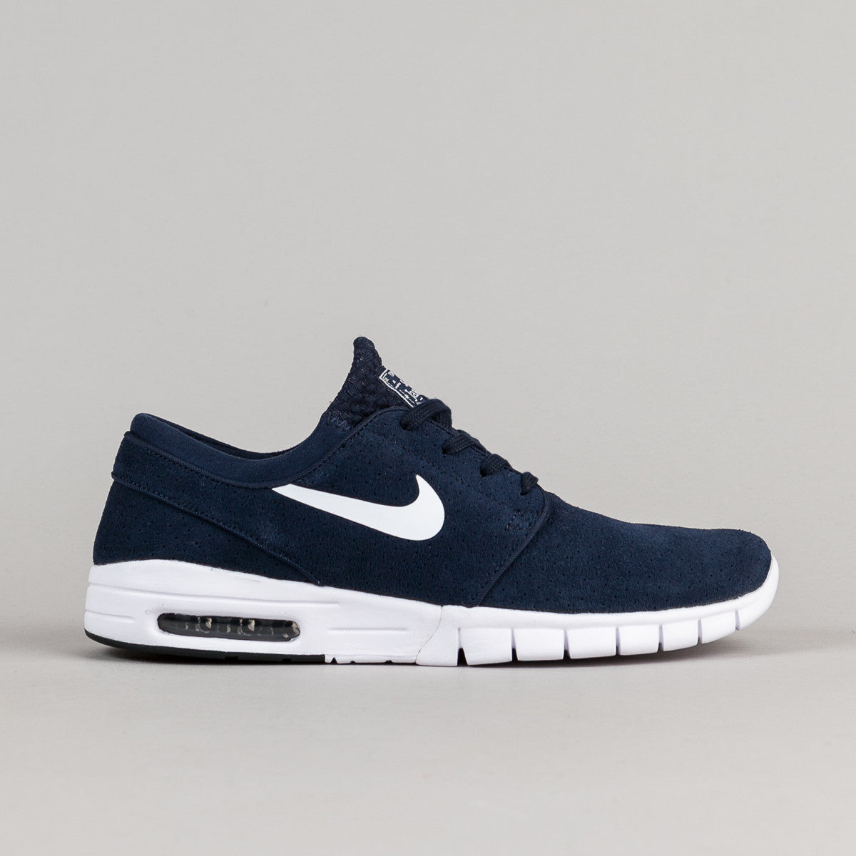 nike sb stefan janoski max suede shoes obsidian white obsidian flatspot. Black Bedroom Furniture Sets. Home Design Ideas