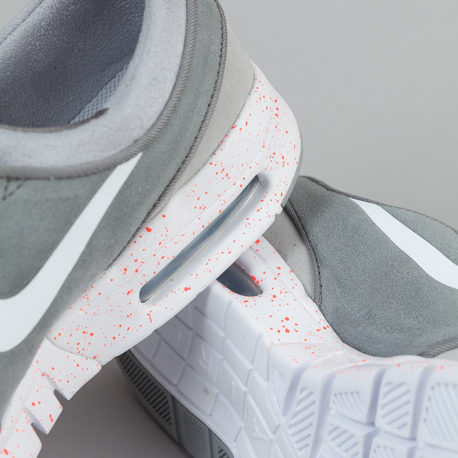 Nike SB Stefan Janoski Max Suede Shoes - Wolf Grey / White / Cool Grey / Hot Lava