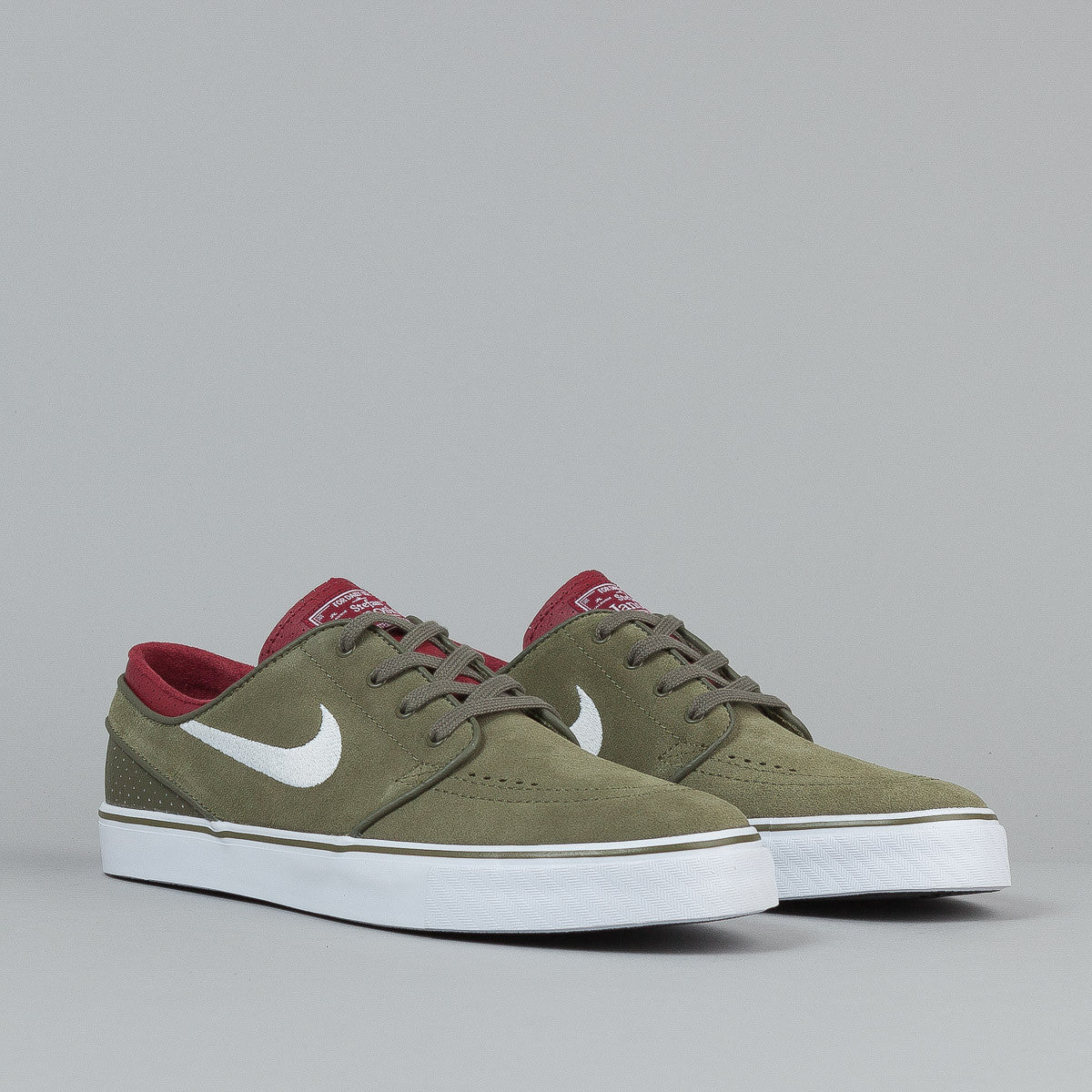 Nike SB Stefan Janoski Medium Olive / White - Team Red - Black