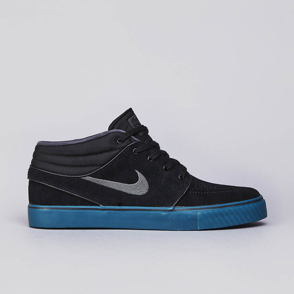 Nike SB Stefan Janoski Mid Black / Dark Base Grey  - Atomic Orange - Night Factor