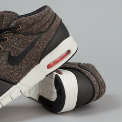 Nike SB Stefan Janoski Max MID Shoes - Baroque Brown / Black - Laser Crimson - Sail