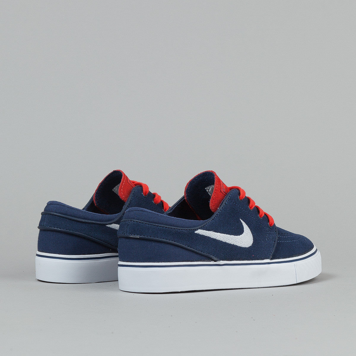 Nike SB Stefan Janoski Midnight Navy / White - Light Crimson