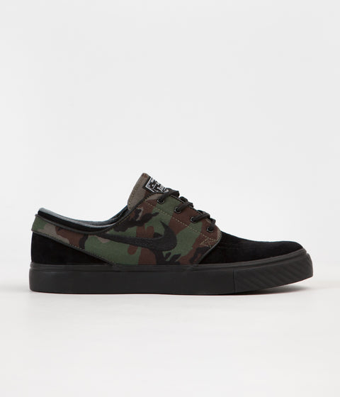 Nike SB Stefan Janoski OG Shoes - Black / Black - Medium Olive - White
