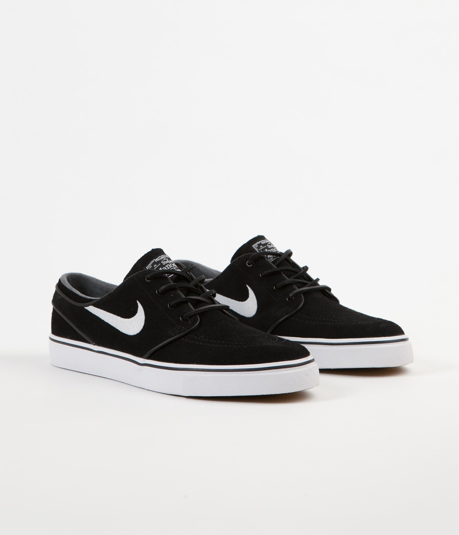 finest selection 6780c 124eb ... Nike SB Stefan Janoski OG Shoes - Black   White - Gum Light Brown ...