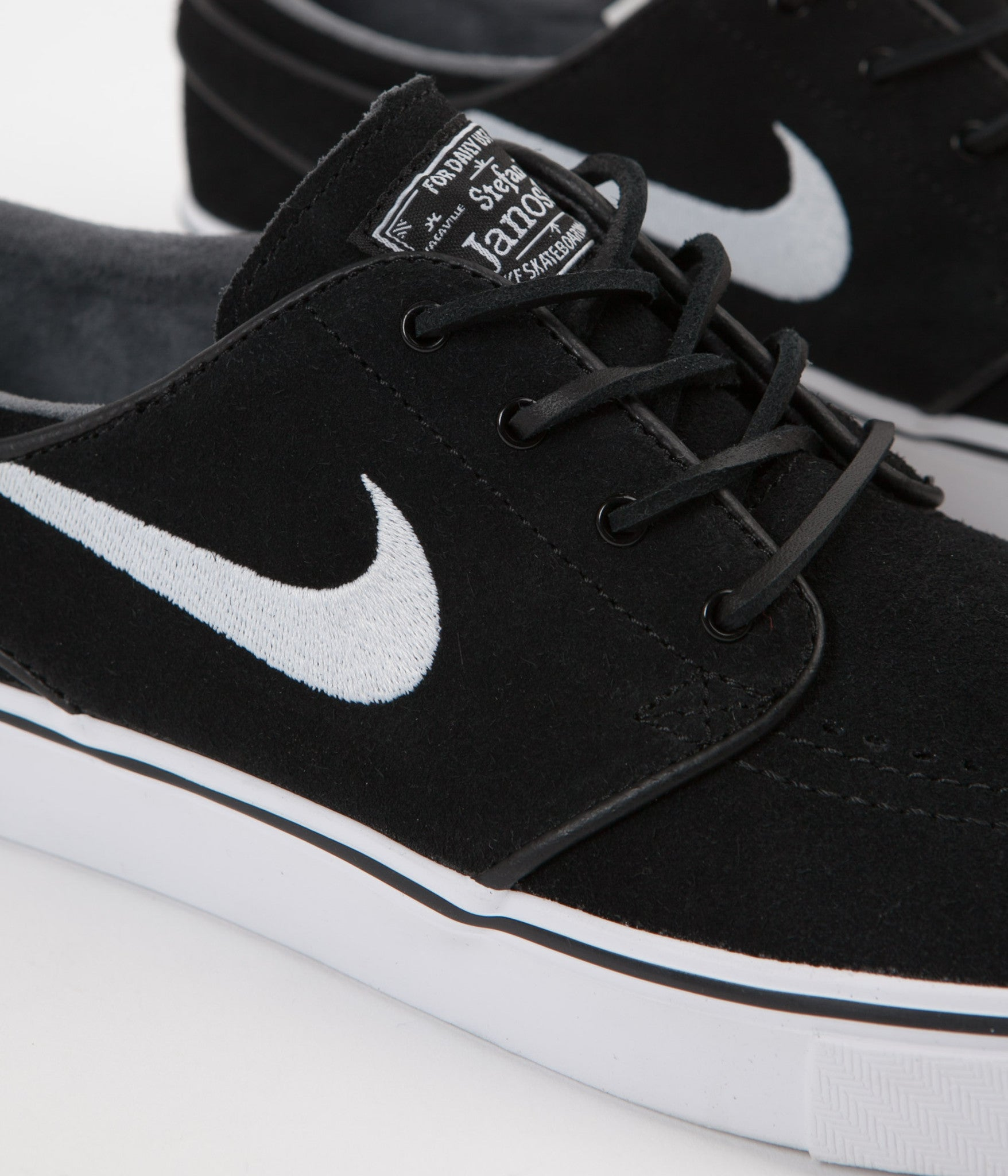 finest selection 744d8 7da6f ... Nike SB Stefan Janoski OG Shoes - Black   White - Gum Light Brown ...